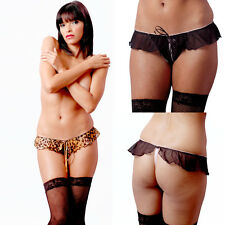 Plus Size Lingerie One Size Queen OC Animal Print or Black G-String  VX8088X