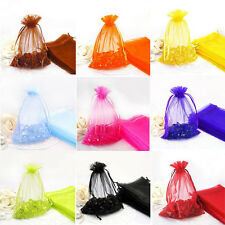11 Colors Premium Organza Wedding Favour Gift Bags Jewellery Pouches 7x9cm