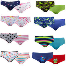 5 Pack Boys/Girls Children's 100% Cotton Briefs Knickers underpants Age 2-13