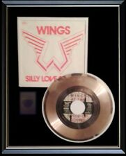 PAUL MCCARTNEY WINGS SILLY LOVE SONGS  RARE GOLD RECORD DISC & 45 RPM SLEEVE