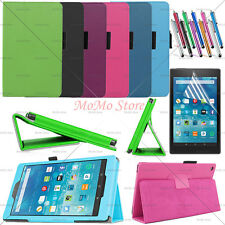 "New PU Leather Case Folio Cover Stand For Amazon Kindle Fire HD 8 8.0"" Tablet"