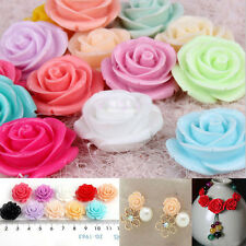 Fashion 15/Pcs Mixed  Resin Rose Flatback Appliques For Phone Wedding Craft 18mm