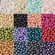 4mm 6mm 8mm Round Czech Glass Pearl Charms Loose Spacer Beads Jewelry Findings