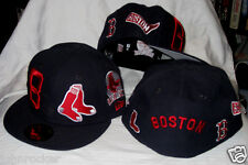 BOSTON RED SOX MLB TOTAL LOGO REDUX NEW ERA 59FIFTY NAVY BLUE FITTED HAT/CAP NWT