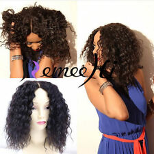 """Hot! Natural Curly 100% Human Hair Lace Front /Full Lace Wig 12""""-24"""" Baby Hair"""