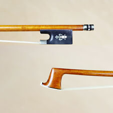 Master Pernambuco violin bow Silver/Gold Mounted Fleur Inlayed Ebony Frog TopBOW