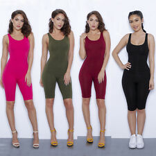 Sexy Womens Backless Bodycon Mid Short Jumpsuit Romper Party Sleeveless Playsuit