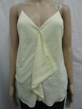 W. RACHEL RACHEL ROY YELLOW CREAM METAL CHAIN STRAPS V-NECK TOP SZ-S,M (NWT)
