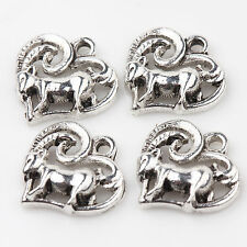Wholesale 15/30Pcs  Hollow Out Tibetan Silver Charms Pendants Crafts DIY 14*14mm