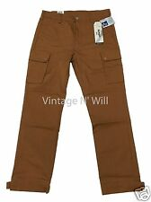 Levis Jeans Men Commuter Cinched Cargo Brown Straight Pants Cyclist Bike Cycling