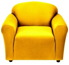 YELLOW CHAIR COVER-ALSO COMES IN SOFA COUCH LOVESEAT RECLINER FUTON SLIPCOVER