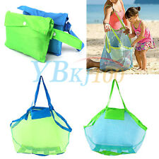 Large Multicolor Beach Tote Kids Sand Away Carry All Toys Clothes Beach Mesh Bag