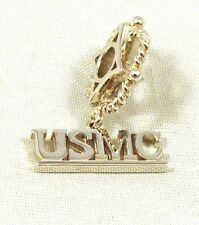 Storywheels 925 Sterling Silver USMC Letter Charm - NEW - FREE Shipping