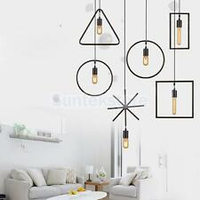 E27 Vintage Geometric Ceiling Wire Pendant Light Holder Lampshade Fixture