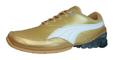 Puma Cell Akila L Womens Leather Running Sneakers / Shoes - Gold - 2305