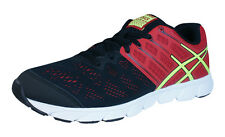 Asics Gel Evation Mens Running Sneakers / Shoes - Black and Red - T539N