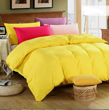 Yellow Solid Bedding Doona Duvet Quilt Cover Set / Sheet Set/Fitted Sheet