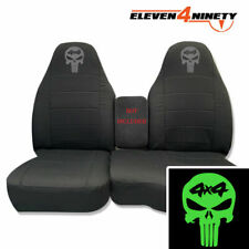 91-15 Ford Ranger Solid Charcoal 60-40 Seat Covers 4x4 Skull Choose Logo Color