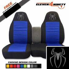 91-15 Ranger Blk Dk Blue 60-40 Seat Covers W Spider Design Choose From 9 colors