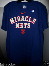 NIKE NEW YORK METS MLB RETRO LOOK MIRACLE METS ROYAL BLUE ATHLETIC CUT SHIRT NWT