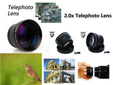 Z2 2X TELE telephoto Converter Lens 37mm for Digital Camera Camcorder Lenses