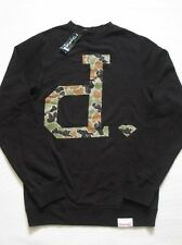 Camo D Black Crewneck Sweater DIAMOND SUPPLY Co LS Crew Company S Small Mens New