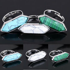 1/5/10 pcs Lots Boho Charm Womens Fashion Silver Turquoise Band Rings Jewelry AA
