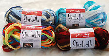 Starbella Premier Yarn to make Layered Ruffle & Frill Scarves / Choose Color