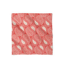 Paisley In Red Satin Style Scarf - Bandana in 3 sizes