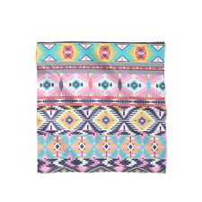 Bright Aztec Tribal Geometric Satin Style Scarf - Bandana in 3 sizes