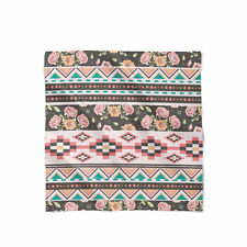 Floral Aztec Tribals Satin Style Scarf - Bandana in 3 sizes