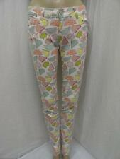 MISSES'S CELEBRITY PINK MULTI WATERMELON PRINT LOW RISE SKINNY JEANS SZ-1,7  NWT
