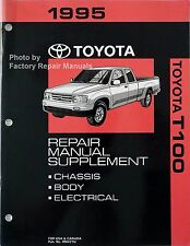 1995 Toyota T100 Truck Factory Service Shop Repair Manual Extended Cab Supplemen