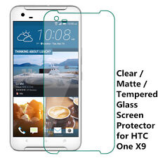New Clear / Matte / Tempered Glass Screen Protector Guard Film For HTC ONE X9