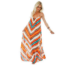 Sexy Lady Spaghetti Strap Backless Maxi Long Dress Summer Beach Holiday Sundress