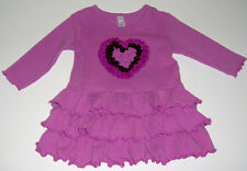 GUC Love U Lots boutique infant baby girls cotton pink heart party dress sz 18m