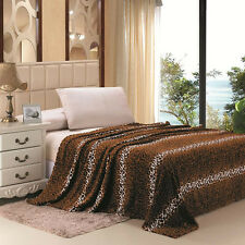 Animal Prints Blanket Leopard & Zebra 4 Colors Twin, Full, Queen, King
