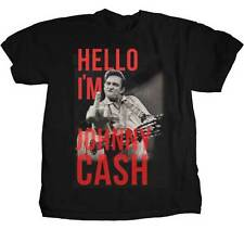 HELLO IM JOHNNY CASH MIDDLE FINGER BLUES ROCK COUNTRY MUSIC T TEE SHIRT S-2XL