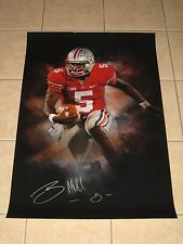Braxton Miller #5 signed Ohio State Buckeyes Color Burst 24x36 photo Texans