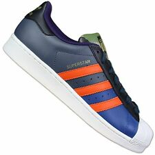 ADIDAS ORIGINALS SUPERSTAR 80s ODDITY PACK LEATHER SNEAKERS SHOES S82758 BLUE