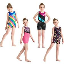 Girls Kids Toddlers Gymnastics Ballet Leotards Skating 2-8Y Dancewear Dancing