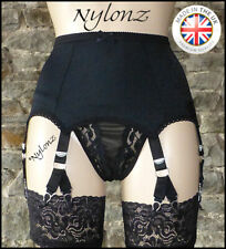 6 Strap (12 Clip) V Clip Luxury Suspender Belt Black (Garter Belt)