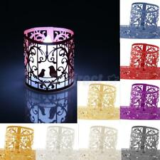 6 x Love Birds Heart Paper LED Tea Light Holders Wedding Christmas Decor