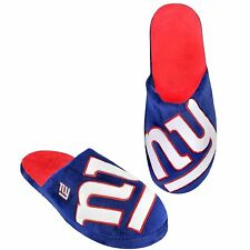 NY New York Giants Slippers Team Colors Logo NEW Two Toned House shoes BLG