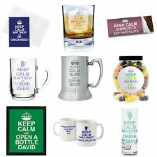 Personalised Keep Calm Gift Ideas for 18th 21st 30th 40th 50th 60th Birthday