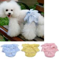 Female Dog Sanitary Pants Soft Cotton Pet Puppy Diaper Nappy Briefs Size S M L