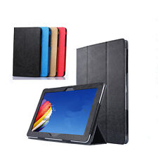 "Silk Leather Case Stand Cover For Huawei MediaPad M2-A10L/T1-A21 9.6"" Tablet"