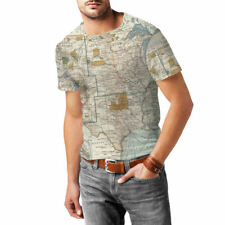Antique United States Map Mens Sport Mesh T-Shirt XS-3XL All-Over-Print Sublimat