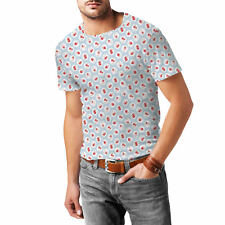 Shabby Chic Florals on Blue Mens Sport Mesh T-Shirt XS-3XL All-Over-Print Sublim