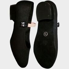 Girls Character Shoes SIZE 4-6.5, LOW Heel Syllabus Black Canvas Dance Suede TDL